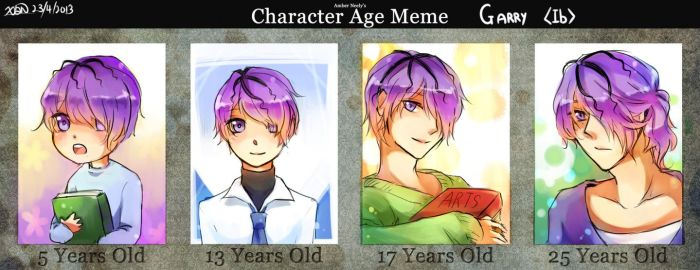 Ib- Garry age meme by christon-clivef