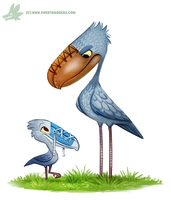 Daily Paint #1180. Shoebill by Cryptid-Creations