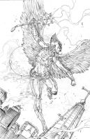 HawkWoman by caananwhite
