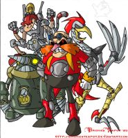 Ivo Robotnik and his minions by BrokenTeapot
