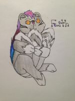 Num... {My Fursona Chewing on her Tail} {OldDraw} by piperlover3000