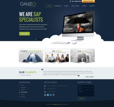 Galileo Search Website Design by shoahmed