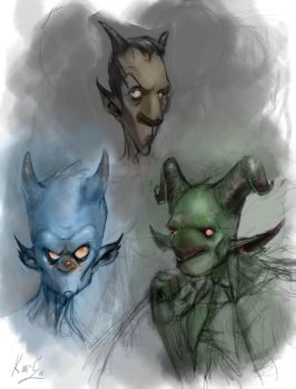 Horny Devils Quick Sketch by MacGwyver