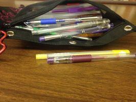 My gel pens xD by Creepyschoolgirl