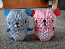 3d origami teddies by juls2