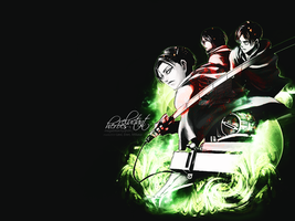 Shingeki no Kyojin 'Reluctant Heroes' Wallpaper by MegaBleachy