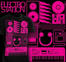ELECTROSTATION Tee by Lord-of-the-crayons