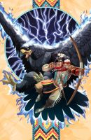 The Warrior and the Thunderbird by universe-K