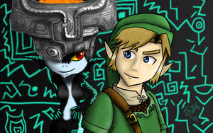 Midna and Link by xxfangirlkillerxx