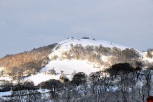 Castell Dinas Bran in snow. by MadDan