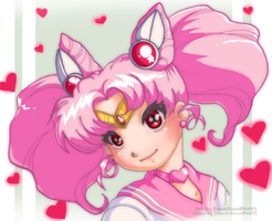 Chibimoon Collab with Hezachan by Danni-Stone