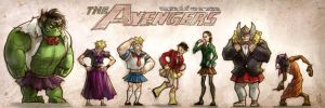 the Avengers grils uiniform by agathexu