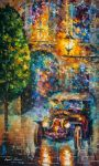 Vintage Car Collection piece 5 by L.Afremov by Leonidafremov
