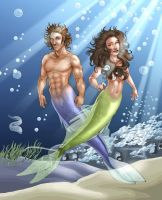 The Fairy Folks - Merpeople by ChateNoire