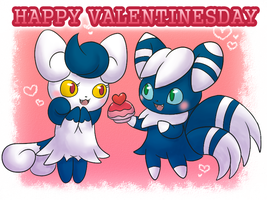COLLAB: Happy Valentinesday Meowstics :3 by FuwaKiwi