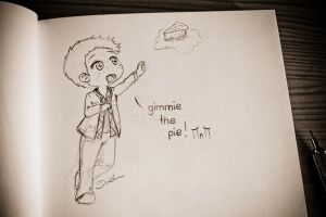 chibi Dean: gimmie the pie! by katsempire