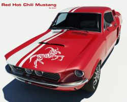 Red Hot Chilli Mustang by Dwair