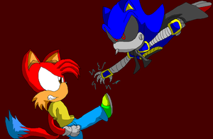 jj vs metal sonic request by djdragondude
