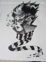 Eridan in Ink by Wistful-Zombie