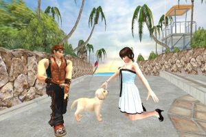 Hwoarang, Leifang, and Their New Puppy by Stylistic86