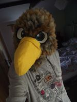 Brown eagle fursuit head - view 2 by THEsquiddybum
