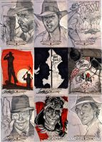 INDIANA JONES Sketch Cards 4 by J-Scott-Campbell