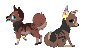 2 Pups for ~tiger-jenni by MichelsAdoptions