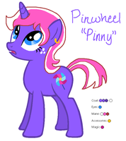 Pinwheel the Unicorn - MLP:FiM OC by zafara1222