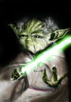 you fight Yoda ( 2012 old work) by spinoza1996