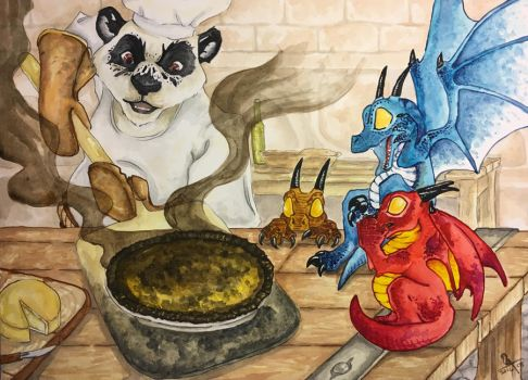 Whelplings: Cooking With Nomi by Dragon--Feathers