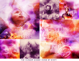 Catching fire icons by Evey-V
