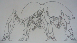 Mech-Bug Inked by Angryspacecrab