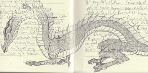Notebook Sketch--Dragon by Chichiro