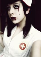 Bloody Nurse - Blood spills. by MarieMystery
