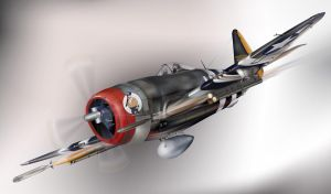 P-47 Thunderbolt by wakdor