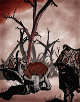 Albertaceratops comic panel by Dyn0saur