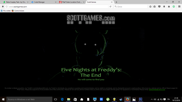 Five Nights at Freddy's:The End (Fake Teaser) by CharizardMen99