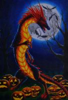 Halloween Dragon by Dalanatha