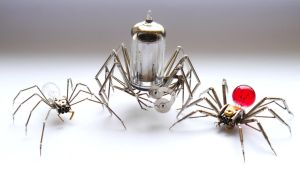 Clockwork Mechanical Spider Comparison by AMechanicalMind