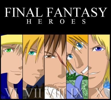 Final Fantasy Heroes by anomolous