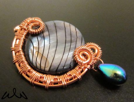 Copper Moon Wire-Wrapped Necklace by Witchwater