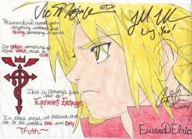 Edward Elric - Signed by BlackAngel101