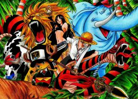 One Piece-Mugiwara in the Jungle by pensierimorti