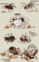 Farce of the spiders by IsisMasshiro