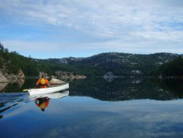 Solo on George Lake by Pagan-Inspiration
