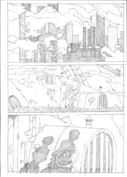 Nightfighter Issue 04 - Page 01 Pencils by Voodoodwarf