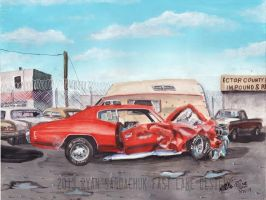 The Life Story Of A 1970 Chevy Chevelle (Part 13) by FastLaneIllustration
