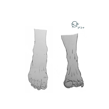 Linework Foot Study - 1 by ELECTRICPENGUINS