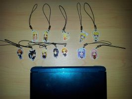 1-inch Charms - Vocaloid Chobits K-On! and Pikachu by DivineJayce