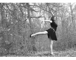 A dancer in the Forest. by Antyalphe